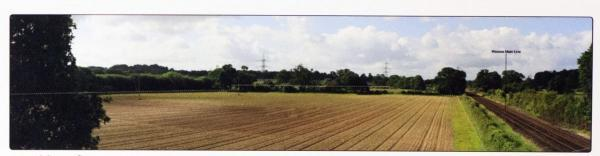 The site for the proposed solar farm near Romsey.