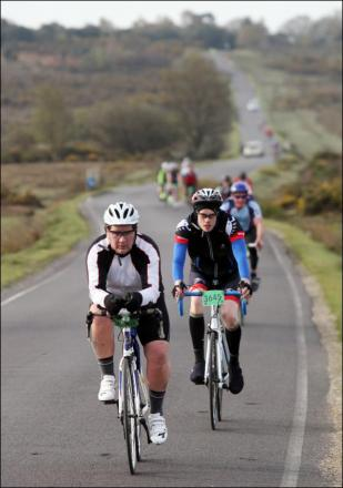 Cyclists ride through the New Forest during the two-day Wiggle New Forest Spring Sportive last April.
