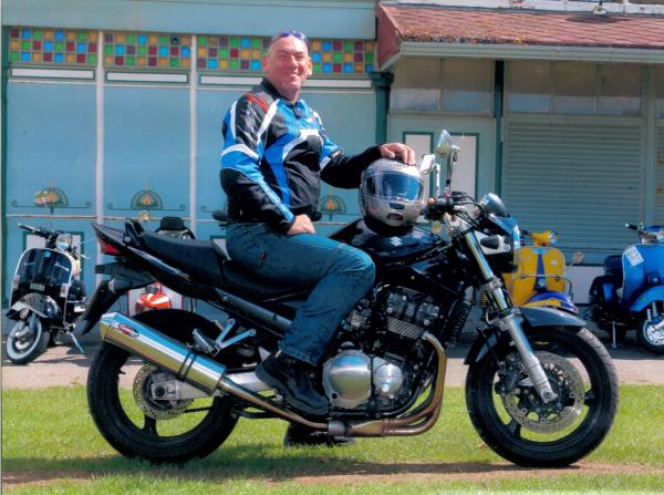 Biker distracted by bag, inquest told