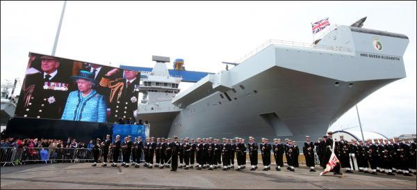 Largest ever warship named by Queen