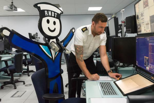 Royal Naval Benevolent Trust mascot spends day with navy in Hampshire