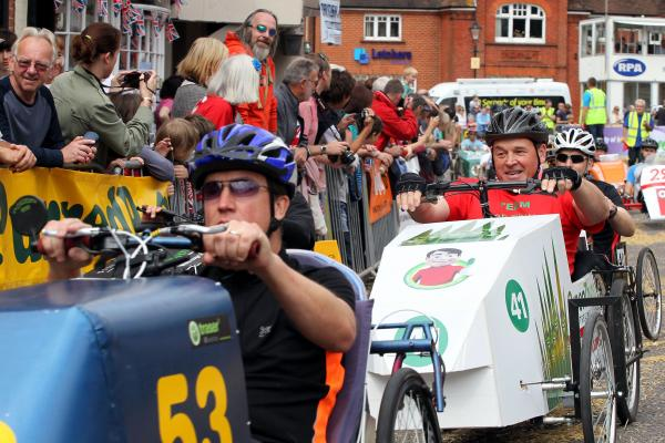 Hampshire town prepared for Pedal Car Grand Prix