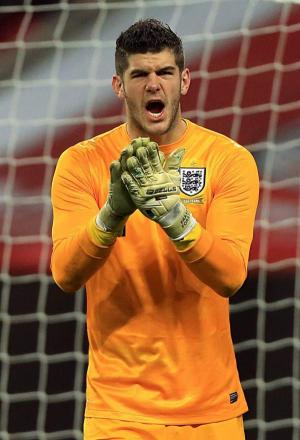 Fraser Forster reported for England duty last night