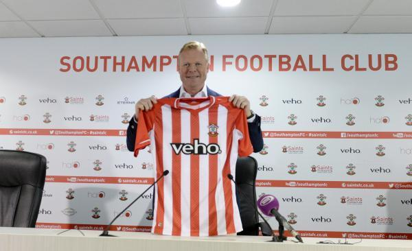 Ronald Koeman at St Mary's yesterday