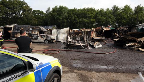 Explosions and homes evacuated as blaze wrecks business park