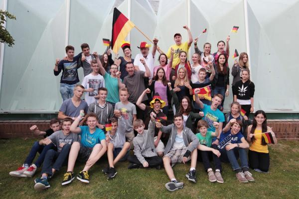 The German fans in Hampshire hoping to celebrate World Cup win