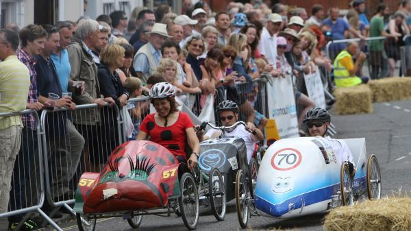 Crashes and drama as Hampshire hosts the British Pedal Car Grand Prix