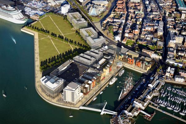 An artists impression of the Royal Pier scheme