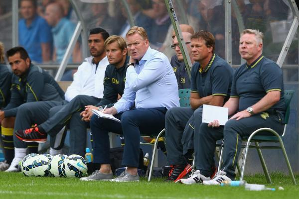 Ronald Koeman didn't clock up many air miles in returning to Holland for a pre season friendly last week