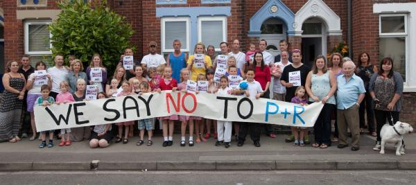 Residents in Eastleigh are campaigning against a proposed park and ride at the end of their street