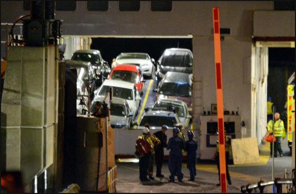 Passengers injured as car ferry deck collapses. Pictures by Shane Thornton.