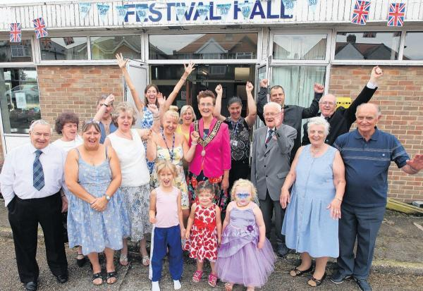 The Mayor of Southampton Councillor Sue Blatchford visits Festival Hall in Merry Oak where a fete was held to celebrate the 50th anniversary of the hall.