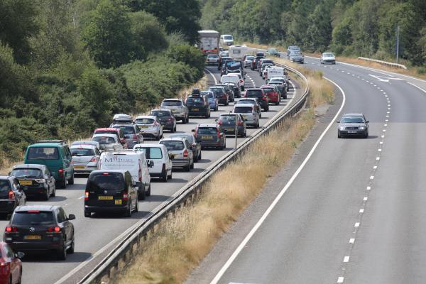 Delays for motorists after car breaks down on busy road
