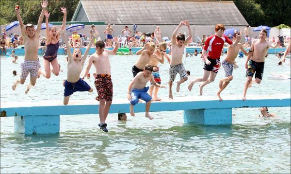 Business is booming at Lymington Sea Water Baths.