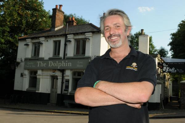 Tim Taylor outside The Dolphin in Southampton