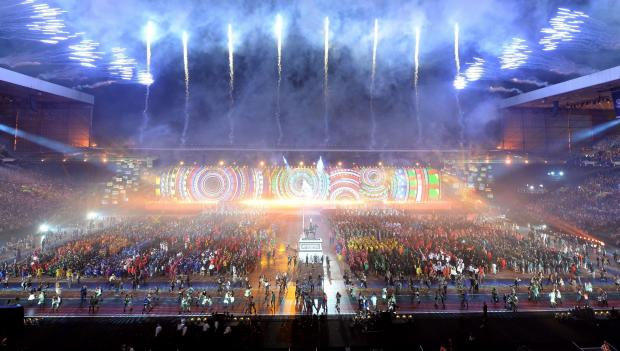 The opening ceremony of the 2014 Commonwealth Games in Glasgow