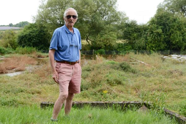 Land owner Charles Ranald at the site near Alresford which has been standing uncultivated.
