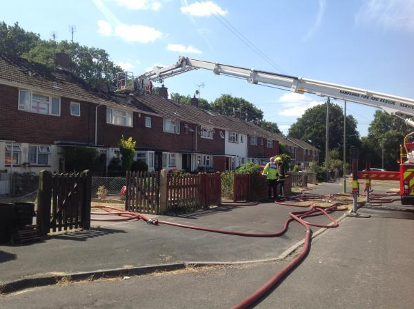UPDATE: Families flee estate as fire spreads across terrace block