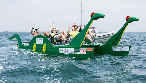 Southampton University students have designed a Loch Ness Monster-shaped pedalo for a charity challenge