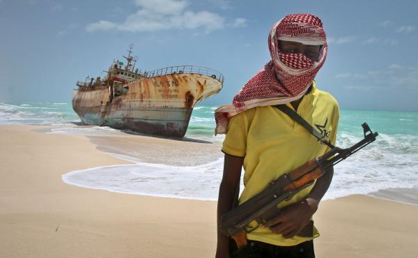 GoAGT escorted ships through some of the world's most dangerous seas, including off the coast of Somalia, pictured, where piracy is rife
