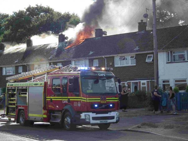The blaze at the Elm Crescent home of Elizabeth Birks