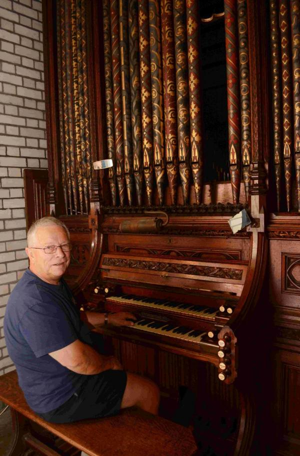 David Woodman, who is organising the removal of the 163-year-old organ at St Andrew's Methodist Church