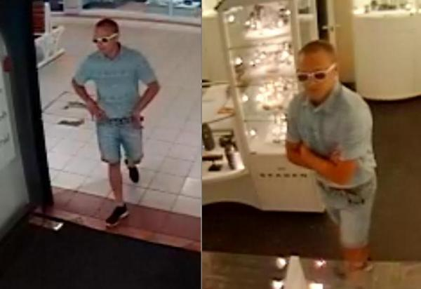 Thief flees jewellers wearing £8,000 watch