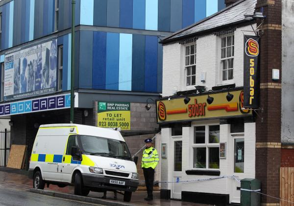 Police hunting arsonists after explosion rocks bar
