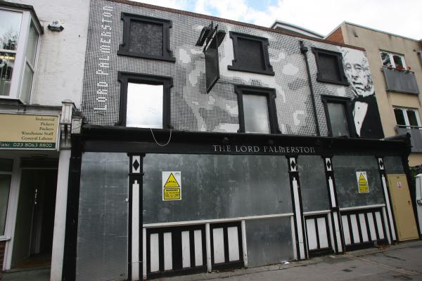 The former Lord Palmerston pub in Southampton