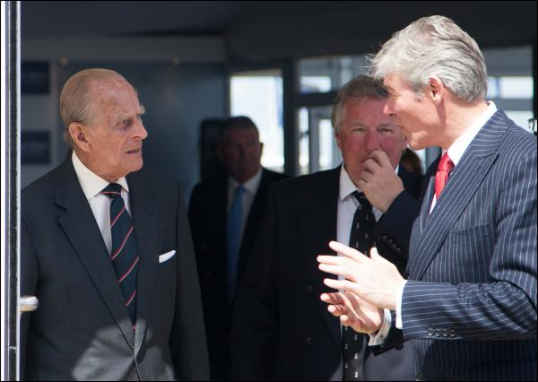 Prince Philip visits Aberdeen Asset Management Cowes Week