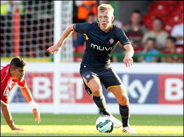 Young Saints star James Ward Prowse who came through the club youth system.