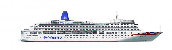 A mock-up of how the Aurora will look after her £26m refit