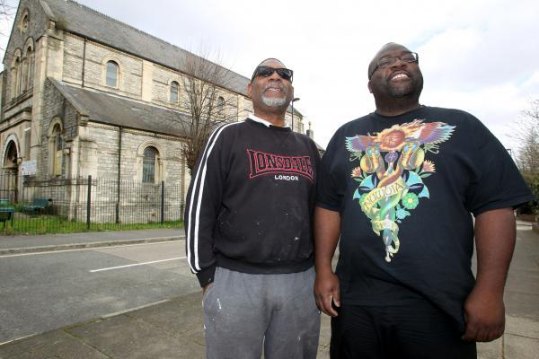 Tony Broomes (left) and Raymond Williams at the African Caribbean Community Centre in Trinity Road, Southampton