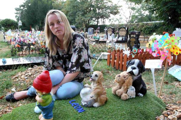 Young Southampton mum heartbroken as thieves desecrate her baby son's grave