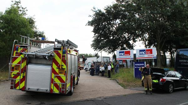 Workers evacuated after fire at business