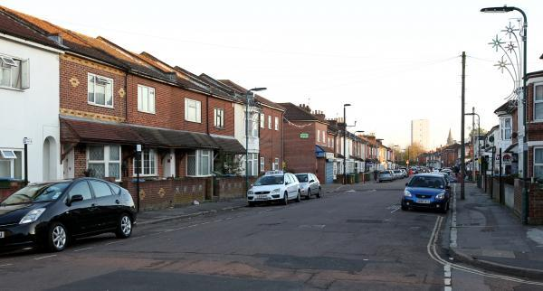 Derby Road in Southampton