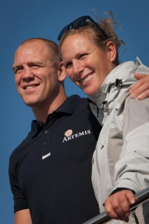 Zara Phillips and Mike Tindall in Cowes. Picture by Lloyd Images
