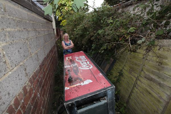 Pauline Bailey, who is a victim of fly-tipping