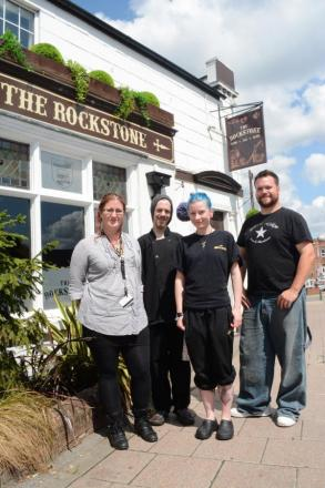 Staff at The Rockstone, which is in line to be crowned best pub in Britain