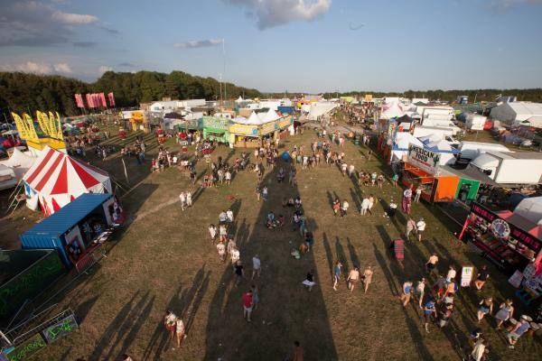 The BoomTown Fair site at Matterley Estate near Winchester