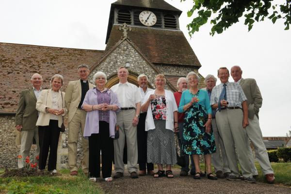 Members of the Somborne and District Society who organised the exhibition