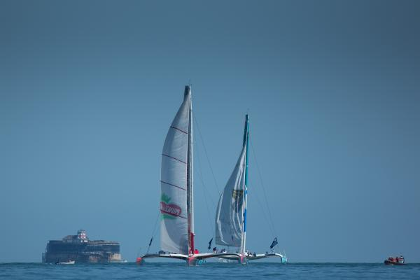 Yachts race in the Artemis Challenge at Cowes Week (picture by Lloyd Images)