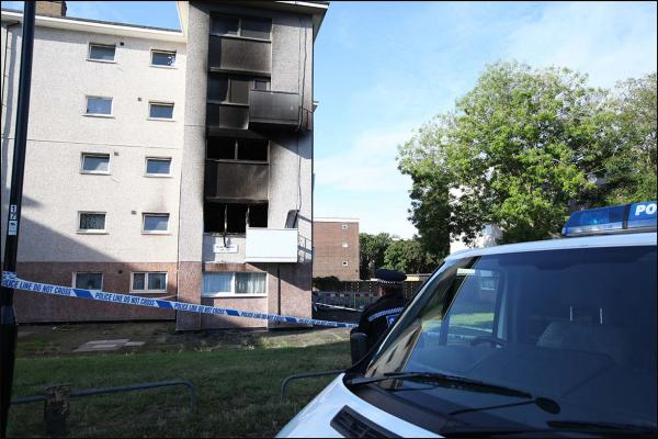 Flats evacuated in fire drama