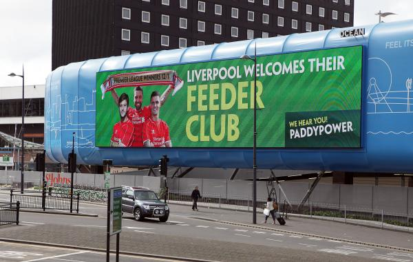 The billboard at Liverpool Lime Street Station