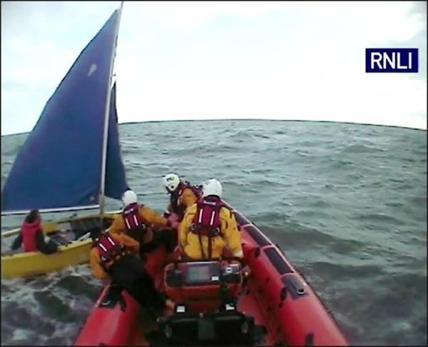 An RNLI lifeboat crew stepped in to save the 30-year-old Bulgarian who was in a 14ft dinghy