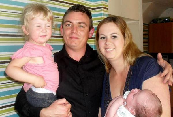 Jo Craddock with partner Marc Doncom and children Danielle (left) and Ryan