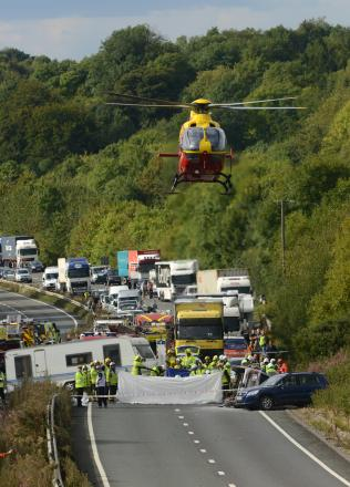 Major road reopens afer toddler airlifted to hospital
