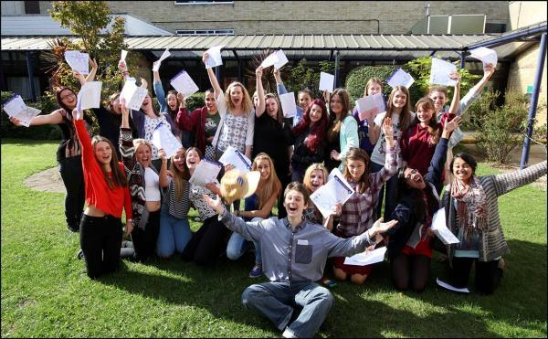 Pictures from GCSE Results Day 2014