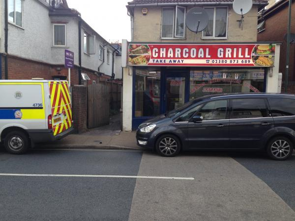 Charcoal Grill in Rumbridge Street, Totton, is being searched by police