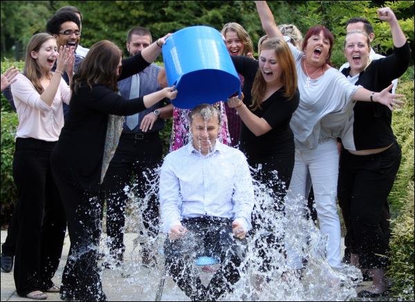 Michael Carr takes the ice bucket challenge
